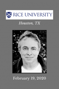 Tom Lutz at Rice University